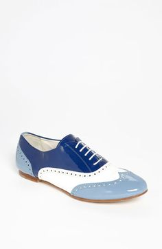 can someone ROCK these blue oxfords at a FL wedding, please!  Attilio Giusti Leombruni Tri Color Oxford | Nordstrom