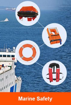 Marine Safety Equipment: Life Jacket, life raft, life buoy