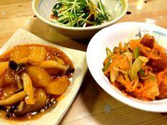 最近大根のトマトケチャップ煮がマイブーム( ̄▽ ̄) - 15件のもぐもぐ - 大根のトマトケチャップ煮、酢豚風野菜炒め、水菜のサラダ by pep