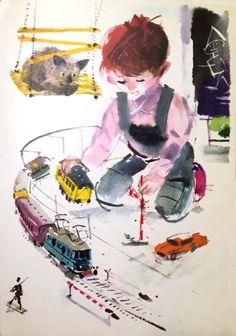 "Janusz Grabianski from ""The Big Book To Grow On. Book Illustration, Portrait, Vintage Postcards, Children's Books, Fairy Tales, Art Photography, Childhood, Polish, Album"