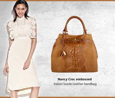 "Dress by self Portrait smart and Elegant complete the look with Marlafiji Nancy Croc embossed Italian Suede/Leather handbag... Get the Look!! http://www.marlafiji.com/new-arrivals/nancy-cognac-embossed-suede-leather-handbag-detail.html www.marlafiji.com ""FREE SHIPPING WITHIN AUSTRALIA""!! #Marlafiji #TopModel #Italianleatherhandbags"