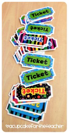 A Cupcake for the Teacher: Clip It! Behavior Tickets by CTP!