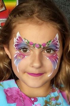 Little purple butterfly face painting favorites