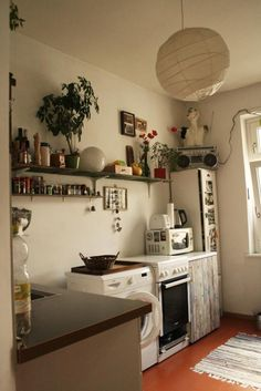 Gemütliche Berliner Küchennische - Wohnung in Berlin. #Berlin #kitchen #Küche