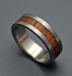 Nalu  Wooden Wedding Rings by MinterandRichterDes on Etsy, $197.00