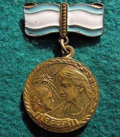 USSR Soviet Union ORDER OF MATERNAL GLORY Bronze medal #38