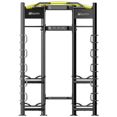 IMPULSE ZONE STRETCH STATION The incorporated shelves can be used for storage but are also important during exercises – and the multiple different heights offer a large range of workout options. The vertical frame loops are perfect for threading through a battling rope or anchoring this type of equipment for dynamic exercises. The stretch station also allows the attachment of the dip and plyo platform connectors, so is one of the most versatile stations on offer.