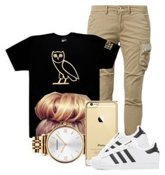 """""""Owl"""" by arii-bankss ❤ liked on Polyvore featuring FRACOMINA, October's Very Own, Emporio Armani and adidas Originals"""