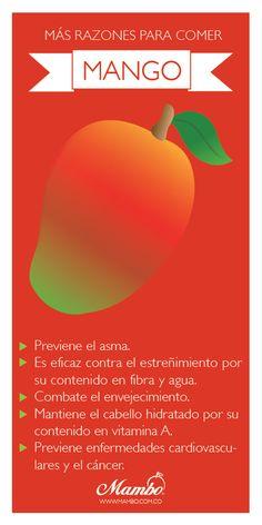 Razones por las que comer más #mango Frutas y verduras Mambo - www.mambo.com.co Cartagena de Indias