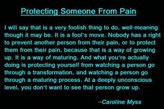 Protecting Someone From Pain -