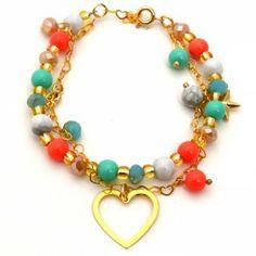 Pulsera Doble Corazón Tienda online de accesorios para mujer #accesorios #aretes…