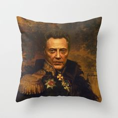 Christopher Walken - replaceface Throw Pillow by Replaceface | Society6