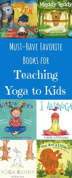 My favorite kid's books for teaching and learning about yoga with kids and little ones! Great book ideas for elementary kids, toddlers, and even preteens. Teach and learn yoga with kids through these adorable and educational yoga books. Teaching Yoga To Kids, Preschool Yoga, Yoga For Kids, Teaching Phonics, Elementary Teaching, Vinyasa Yoga, Yoga Challenge, Chakra Yoga, Yoga Games