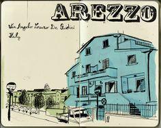 Lehel Kovács: Google Street View Illustrations - Arezzo