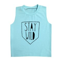 A personal favorite from my Etsy shop https://www.etsy.com/listing/237869280/blue-stay-wild-baby-muscle-tee-baby