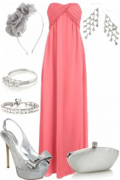 cute pink and silver outfit #wedding #inspiration