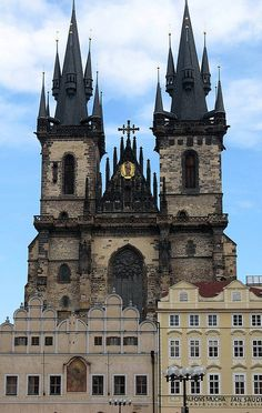 Tyn Church, Old Town Square, Czech Republic, Prague
