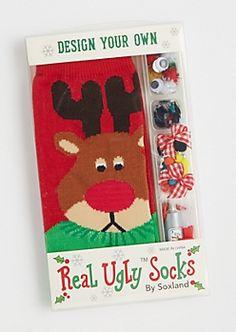 DIY Real Ugly™ Reindeer Socks By Soxland