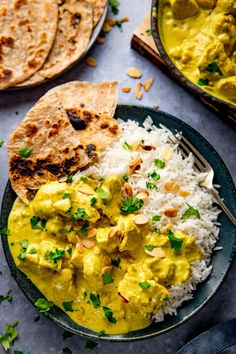 Chicken Pasanda is a rich, creamy, mild curry made with yogurt, spices, cream and ground almonds. Quick to prepare, it's on the table in under 30 minutes! Indian Food Recipes, Asian Recipes, New Recipes, Cooking Recipes, Healthy Recipes, Ethnic Recipes, Healthy Meals, Coriander Cilantro