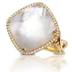 Doves Jewelry white mother of pearl yellow gold ring
