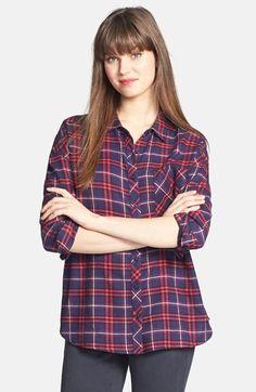 Olive & Oak Plaid Cotton Flannel Shirt