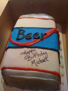 beer Birthday Cakes for Men   Beer Can Cake Birthday For Men Novelty Carlsberg Picture