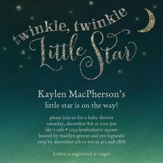 Perfect for a Twinkle Twinkle Little Star theme shower!