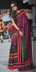 #Black colour wrinkle chiffon material #saree #sari, the dark the beauty.