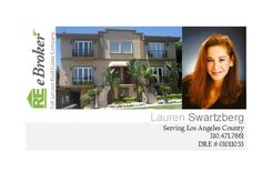 Lauren Swartzberg, an Estates Director for Real Estate eBroker, is once again congratulated for her outstanding performance as a real estate agent. In July, she listed a Brentwood townhome for $1,250,000.00, selling it within 3 days for $1,300,000.00. This elegant Tuscan Townhome had previously been listed with another agent/broker prior to being represented by Lauren.