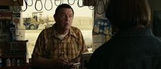 In No Country For Old Men during the coin toss scene the cables behind the cashier look like nooses. Meaning hes meeting the executioner. Beth Grant, Kelly Macdonald, Coin Toss, Roger Deakins, Netflix Uk, Coen Brothers, Tommy Lee Jones, Adventure Film