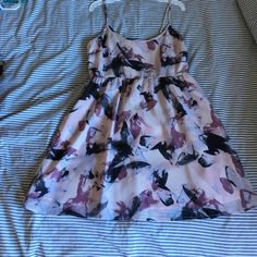 Purple Floral Watercolor Dress NWOT Amazing condition... It's just now toooo big for me ): BB Dakota Dresses