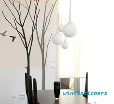 Vinyl Wall Decal Nature Design Tree Wall Decals Wall stickers Nursery wall decal wall art------winter tree. $78.00, via Etsy.