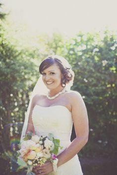 Cambria Pines, CA; beautiful bride