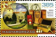 Sello: Hungarian Chemistry Museum, Várpalota (Hungría) (Hungarian Museums) Mi:HU 5530,Yt:HU 4454,WAD:HU037.11 Gelato, Museums, Chemistry, Hungary, Stamps, Castles, Ice Cream, Museum