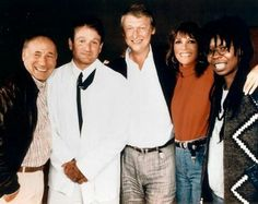 Robin with Mel Brooks, Whoopi Goldberg and co