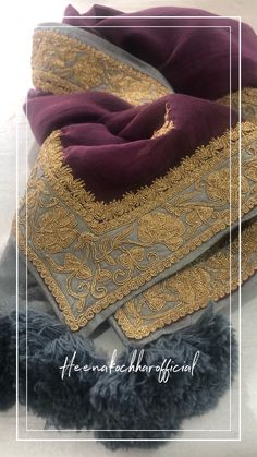 Embroidery Suits Punjabi, Embroidery Suits Design, Embroidery Fashion, Hand Embroidery Designs, Wedding Dresses For Girls, Pakistani Wedding Dresses, Pakistani Dress Design, Pakistani Outfits, Designer Party Wear Dresses