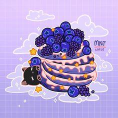 Art by mnt_kaedi Cute Food Drawings, Cute Animal Drawings Kawaii, Arte Do Kawaii, Kawaii Art, Stickers Kawaii, Cute Stickers, Aesthetic Art, Aesthetic Anime, Arte Copic