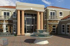This luxury 5 bedroom house plan with photos has 5 garages. Browse double storey house designs and home designs in Limpopo. House Plans For Sale, Unique House Plans, Affordable House Plans, House Plan With Loft, House Plans With Photos, Contemporary House Plans, Luxury House Plans, Dream House Plans, Dream Houses