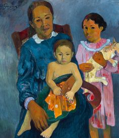 Paul Gauguin, 1901, Femme et deux enfants (détail), oil on canvas, Art Institute of Chicago.
