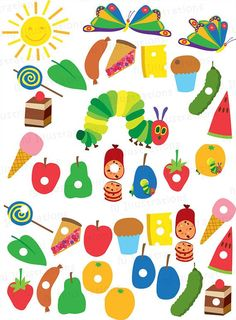 Very Hungry Caterpillar digital clipart by hjIllustrations on Etsy: