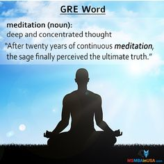 #GRE #GREWord #WordOfTheDay #study #studyinusa Via MSMBAinUSA Word Of The Day, New Words, The Twenties, Meditation, Study, How To Get, Thoughts, Learning, Memes