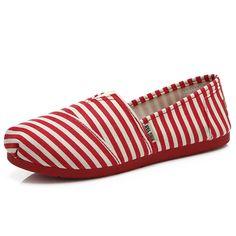 Lona de las mujeres de bajo deslizamiento ocasional superior plana cómoda en los zapatos mocasines planos del dedo del pie redondo