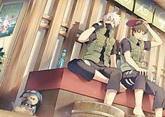 Pakkun, Kakashi & Tenzou