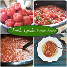 Garden Tomato Sauce Recipe with Fresh Basil and the story of almost having tomatoes thrown in my yard. @spinachtiger