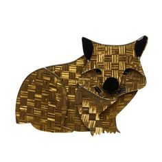 A Wary Warri Wombat brooch by Erstwilder! A patterned resin was used to create his fur and its so cool! These little works of art are created with multiple layers of laser cut patterned resin with hand-finished accents. Wombat, Jewelry Shop, Resin Jewelry, Jewellery, Antique Jewelry, My Collection, Keepsake Boxes, Jewelry Trends, Basket Weaving