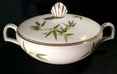 Narumi SPRING BAMBOO Round Covered Vegetable Serving Bowl Dinnerware a 49.99 value Near MINT Condition by libertyhallgirl on Etsy  $24.99