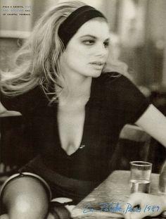 Vogue IT - Paris - Cordula Reyer - Nov 1989 Photo by Peter Lindbergh