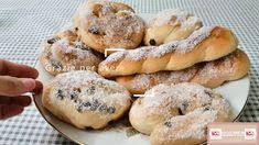 #Treccine e #millefoglie con lo zucchero #siciliane #Bimby. Ricetta #facile... Doughnut, Desserts, Tailgate Desserts, Deserts, Postres, Dessert, Plated Desserts