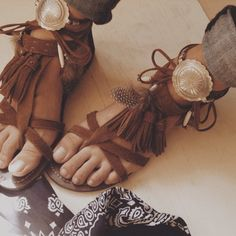 ☆ bohemian chic sandals boho style