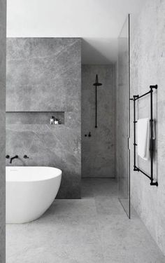 bathroom Ideas for a Minimalist Bathroom Design– Are you and your bathroom the right candidates for a sleek minimalist setting?Ideas for a Minimalist Bathroom Design– Are you and your bathroom the right candidates for a sleek minimalist setting? Hotel Bathroom Design, Modern Bathroom Design, Bathroom Renovations, Bath Design, Remodel Bathroom, Modern Design, Bathroom Makeovers, House Renovations, House Remodeling